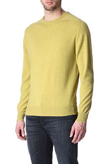 HUNTER GATHER Cashmere saddle-shoulder jumper