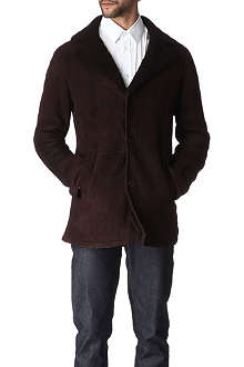 HUNTER GATHER Sheepskin car coat