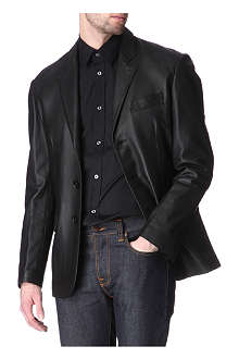 HUNTER GATHER Leather blazer