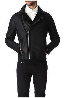 HUNTER GATHER Sheepskin biker jacket