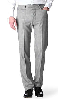 HUNTER GATHER Frogmouth slim-fit checked suit trousers