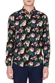 MSGM Floral cotton shirt