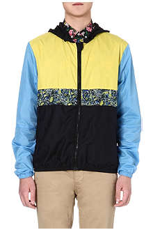 MSGM Floral-panel hooded jacket