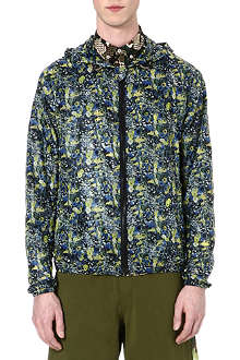 MSGM Floral print hooded jacket
