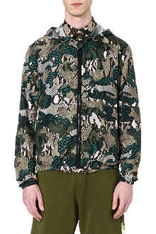 MSGM Animal camo hooded jacket