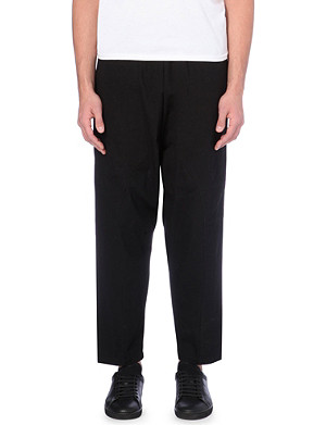 OAK Dropped-crotch cotton trousers