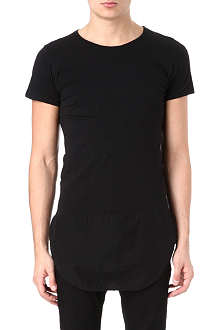 OAK Curved hem panel t-shirt