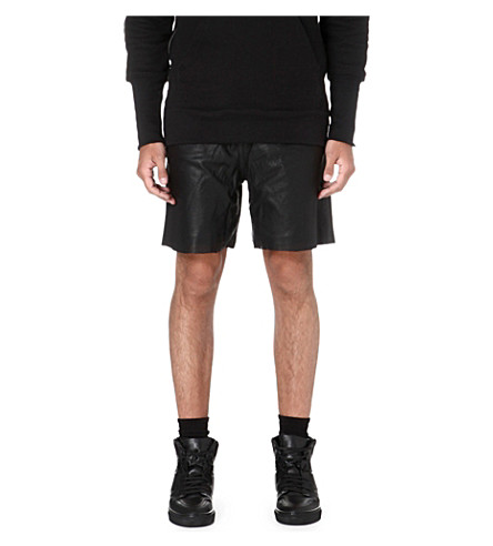 OAK Leather basketball shorts (Black