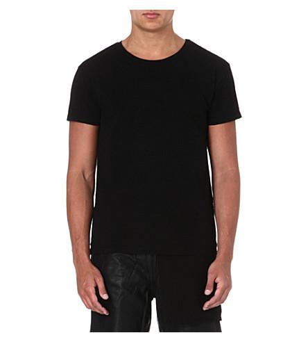 OAK Layered cotton t-shirt (Black