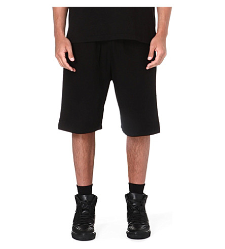 OAK Drawstring cotton shorts (Black