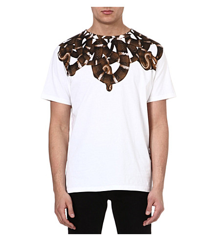 MARCELO BURLON Moon snake t-shirt (White/brown