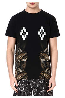 MARCELO BURLON Snake side panel t-shirt