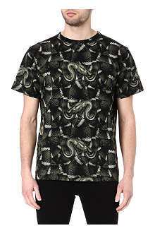 MARCELO BURLON Snake cotton t-shirt