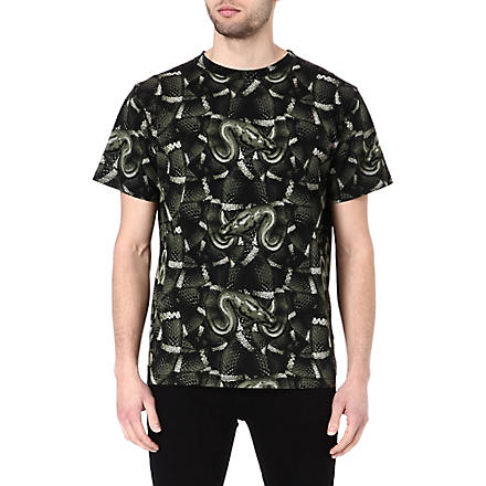 MARCELO BURLON Snake cotton t-shirt (Black/green