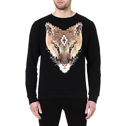 MARCELO BURLON Colin fox sweatshirt (Black