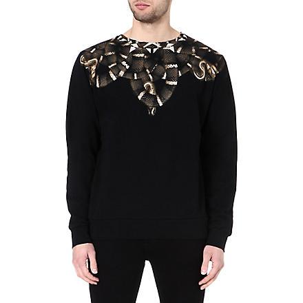 MARCELO BURLON Moon snake sweatshirt (Black/brown