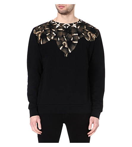MARCELO BURLON Moon snake sweatshirt (Black/brown