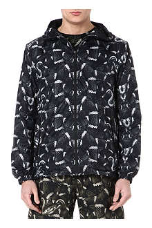 MARCELO BURLON Snake-print waterproof jacket