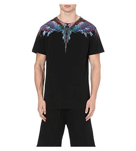 MARCELO BURLON Alas Agua Wings t-shirt (Black/multi