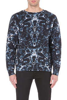 MARCELO BURLON All-over snake-print sweatshirt