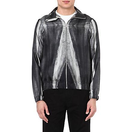 PIGALLE Dégradé silk bomber jacket (Black/white