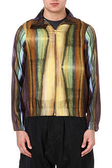 PIGALLE Multi-stripe silk bomber jacket