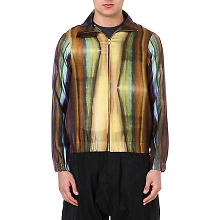 PIGALLE Multi-stripe silk bomber jacket (Multi
