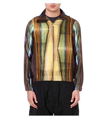 PIGALLE Multi-stripe silk bomber jacket (Multi