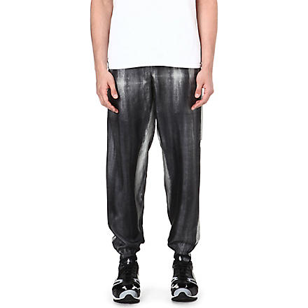 PIGALLE Abstract print jogging bottoms (Black/white