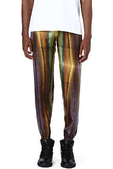 PIGALLE Multi stripe silk jogging bottoms