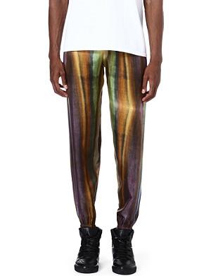 PIGALLE Multi stripe silk jogging bottoms