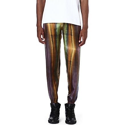 PIGALLE Multi stripe silk jogging bottoms (Multi