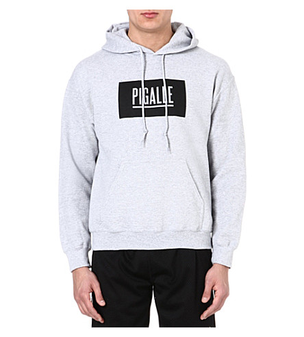 PIGALLE Box logo hoody (Grey/black