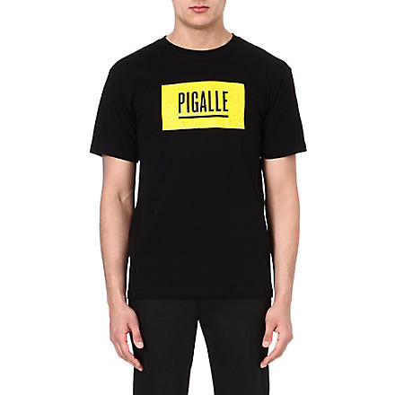 PIGALLE Classic logo t-shirt (Black/yellow