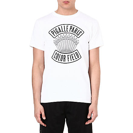 PIGALLE Branded t-shirt (White