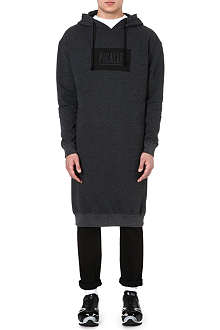 PIGALLE Knee-length logo hoody
