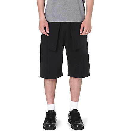 BAZAR-14 Utility panelled shorts (Black