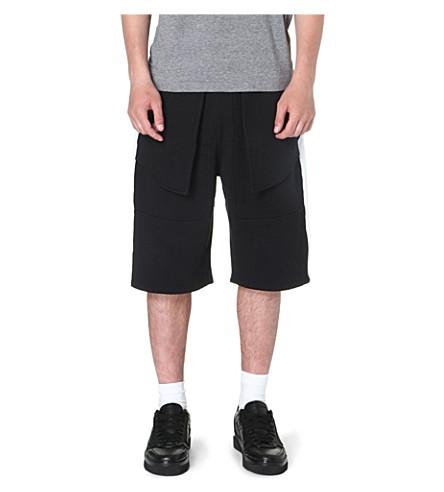 BAZAR-14 Utility panelled shorts (Black