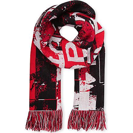 BAZAR-14 Digital print scarf (Red