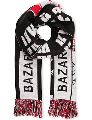 BAZAR-14 Text print scarf