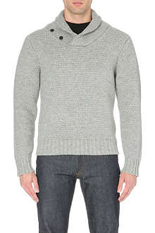 SATURDAYS SURF NYC Frederick shawl-collar wool jumper