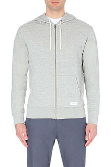 SATURDAYS SURF NYC JP zip-up cotton-jersey hoody