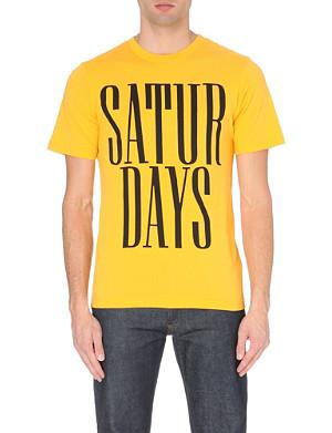 SATURDAYS SURF NYC Stacked logo cotton-jersey t-shirt