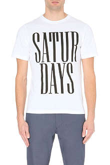 SATURDAYS SURF NYC Stacked logo cotton-jersey t-shirt