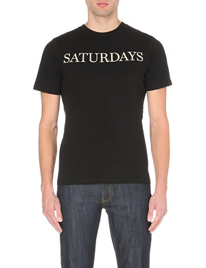 SATURDAYS SURF NYC Straight Serif logo t-shirt