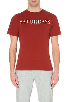 SATURDAYS SURF NYC Straight Serif logo t-shirt