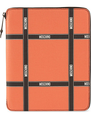 MOSCHINO Grid print document holder