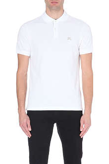 BURBERRY BRIT embroidered-logo cotton-piqué polo shirt