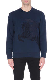 BURBERRY BRIT Equestrian Knight embroidered sweatshirt