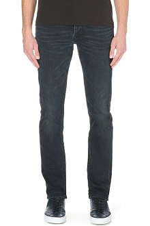 BURBERRY Washed relaxed-fit straight jeans